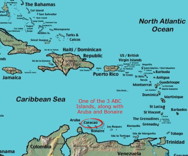 mapofcuracaoandaruba Ophthalmological Society of the West Indies